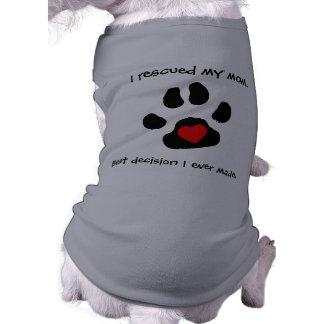 犬の救助のデザイン 犬用袖なしタンクトップ