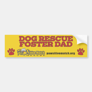 犬の救助の養育関係のパパのバンパーステッカー バンパーステッカー