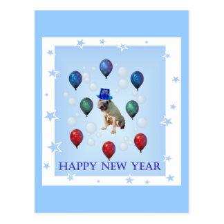 犬の新年 ポストカード