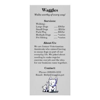 犬の歩くテリアの棚カードテンプレート ラックカード