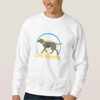犬の歩く スウェットシャツ