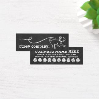 犬の歩行のチョークのロイヤリティプログラム スキニー名刺