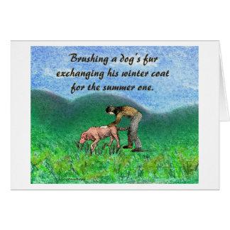 犬の毛皮カード カード