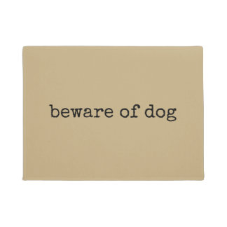 犬の玄関マットの用心して下さい ドアマット