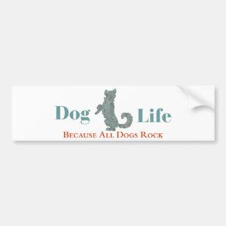 犬の生命バンパーステッカー バンパーステッカー