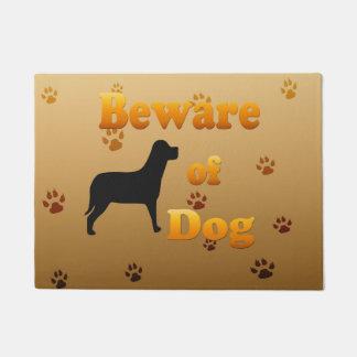 犬の用心して下さい ドアマット
