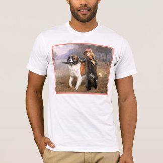 犬の芸術:  学校にを離れて Tシャツ