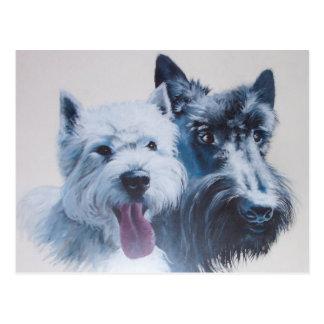 犬の芸術: 最高の郵便はがき ポストカード