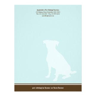 犬の茶色がかった鋼色優雅なペット着席サービスカスタム レターヘッド