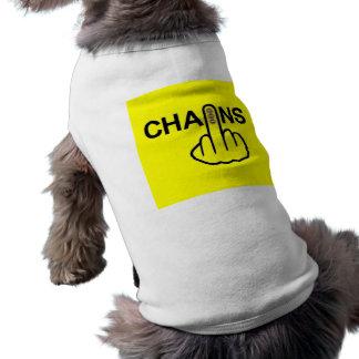 犬の衣類の鎖フリップ ペット服