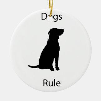 犬の規則 セラミックオーナメント