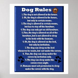 犬の規則-ポスター ポスター