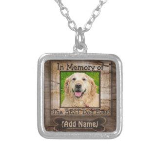 犬の記念物 シルバープレートネックレス