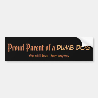 犬の誇り高い親 バンパーステッカー