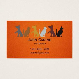 犬の調教師のスタイリッシュでモダンなプロフェッショナル 名刺
