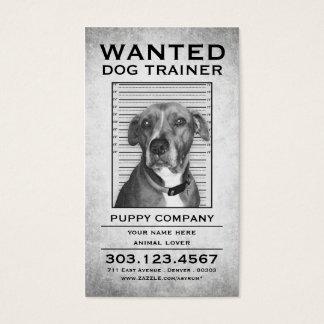 犬の調教師はポスターがほしいと思いました 名刺
