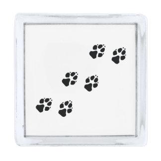 犬の足のプリント シルバー ラペルピン