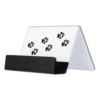 犬の足のプリント デスク名刺ホルダー