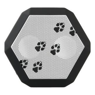 犬の足のプリント ブラックBluetoothスピーカー