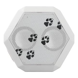 犬の足のプリント ホワイトBluetoothスピーカー