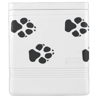 犬の足のプリント IGLOOクーラーボックス
