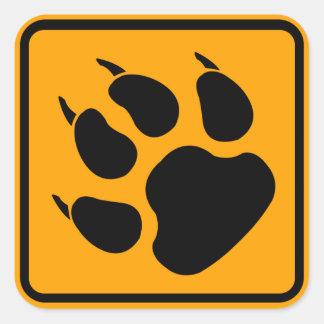 犬の足の印 スクエアシール