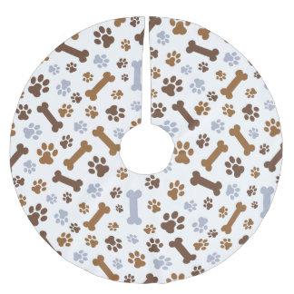 犬の足はパターンを印刷します ブラッシュドポリエステルツリースカート