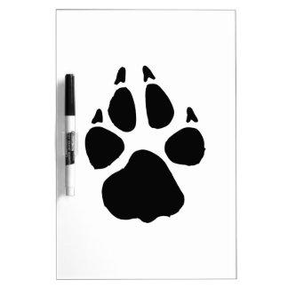 犬の足跡 ホワイトボード