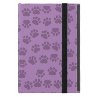 犬の道、犬の足を搭載するパターン-紫色 iPad MINI ケース