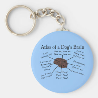 犬の頭脳の地図書 キーホルダー
