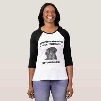 犬の顔-ラブラドールは何かTシャツ起こりました Tシャツ