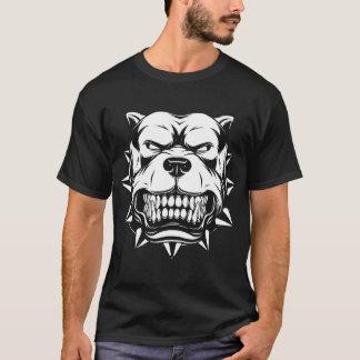 犬の顔-怒っているブルドッグのTシャツ Tシャツ
