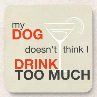 犬の飲み物たくさんのタンの飲み物のコースター コースター
