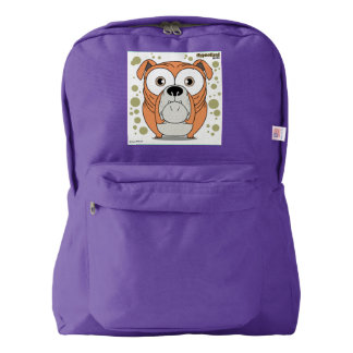 犬の(オレンジ)バックパック、アメジスト AMERICAN APPAREL™バックパック
