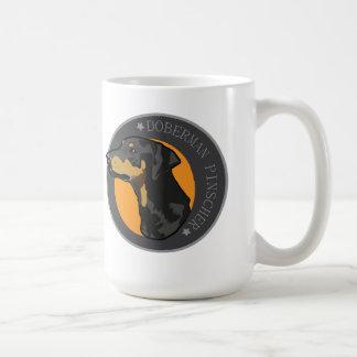 犬の(犬)ドーベルマン・ピンシェル コーヒーマグカップ