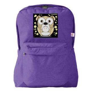 犬の(薄茶の)バックパック、アメジスト AMERICAN APPAREL™バックパック