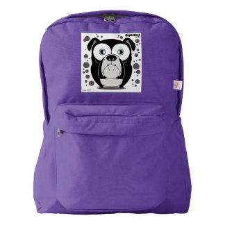 犬の(黒い)バックパック、アメジスト AMERICAN APPAREL™バックパック