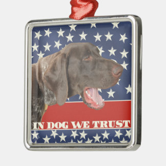 犬のGrizzly4President、私達は信頼します メタルオーナメント