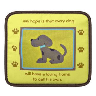 犬のiPadまたはラップトップスリーブのための愛情のある家 iPadスリーブ