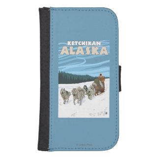 犬のSledding場面- Ketchikan、アラスカ ウォレットケース