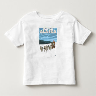 犬のSledding場面- Skagway、アラスカ トドラーTシャツ