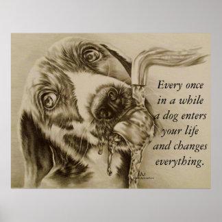 犬はすべてを-犬の飲むポスター変えます ポスター