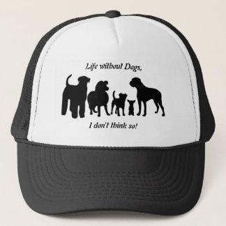 犬はグループの黒いシルエットの帽子、帽子、ギフトを繁殖させます キャップ