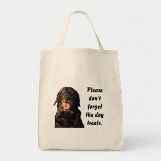 犬は再使用可能な買い物袋を扱います トートバッグ