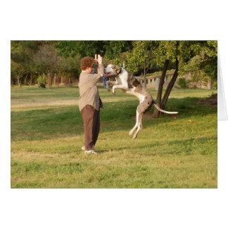 犬は喜びのために跳びます カード