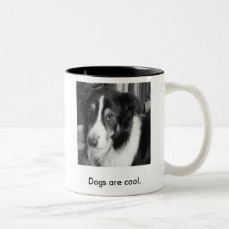 犬は涼しいです ツートーンマグカップ