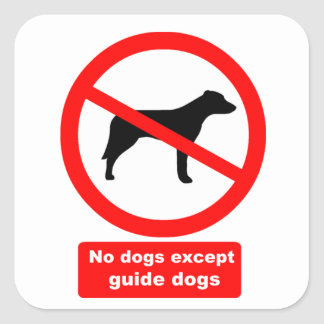 犬は盲導犬を除外しません スクエアシール