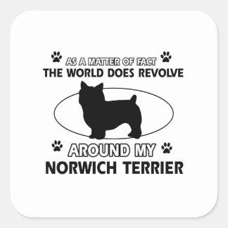 犬は私のノリッジテリアのまわりで回転します スクエアシール