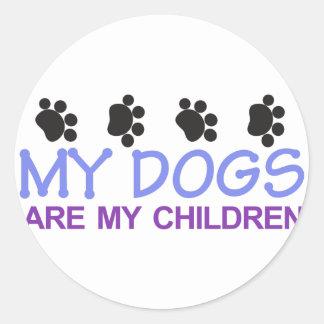 犬は私の子供です ラウンドシール