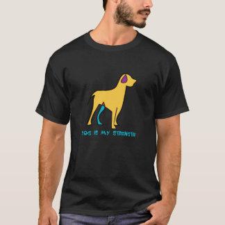 犬は私の強さです Tシャツ